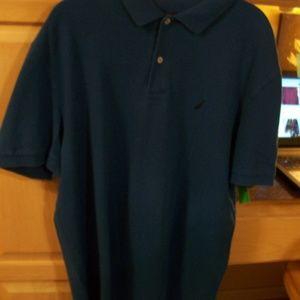 NAUTICA MENS ROYAL BLUE POLO SHIRT XL